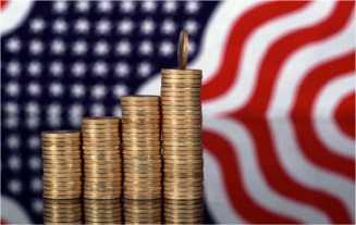 coins and flag